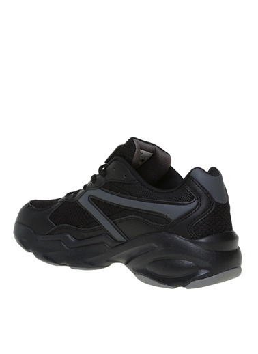 Hammer Jack Hammer Jack Erkek Düz Siyah Tekstil+Suni Deri Bağcıklı Sneaker 101 21095-M Siyah